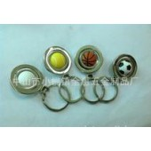 World Cup football key button metal rotary key ring high-end sports small gifts