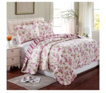 printed fabric bedspread