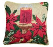 Jacquard fabric filled cushion