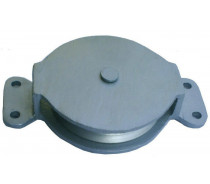 YJ202 GALV IRON PULLEY W/GALV.STEEL HOUSING