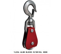 YJ206 ALUM BLOCKS W/SWIVEL HOOK