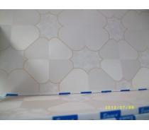 Suspended ceiling colorized gypsum tile
