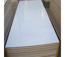 White Color Hardwood Core Melamine Faced Plyw