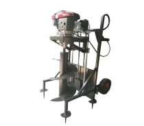 4sroke hand-cranked wheel earth auger
