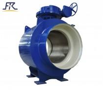 Worm Fully welded ball valve,weld ball valve