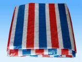 Colorful Stripe PE Tarpaulin, Waterproof
