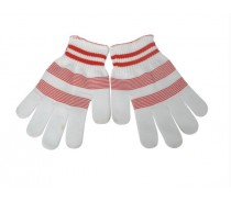 White Peach Red Nylon Gloves for Wholesale
