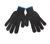 Black Yarn DOT Cotton Working Gloves