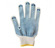 Cotton Working Knitted PVC DOT Gloves