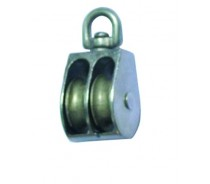 WST037 ZINC DOUBLE SHEAVE PULLEY SWIVEL EYE