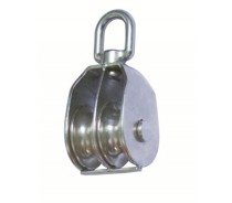 WST147 SS SWIVEL BLOCK WITH DOUBLE WHEEL