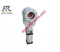 Ceramic pneumatic double disc gate valve