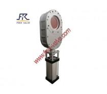 pneumatic wearable ceramic double gate valve