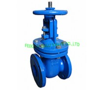 DIN CAST IRON RISING STEM GATE VALVE,METAL SEATED,F4 PN16