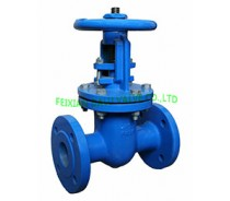 DIN CAST IRON RISING STEM GATE VALVE,METAL SEATED,F5 PN16