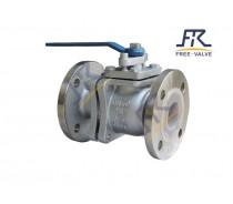 Full Bore stainless steel Flange Lining Fluorine Ball Valve
