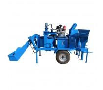 mobile clay interlocking brick machine