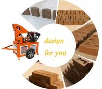 movable manual clay interlocking brick machine