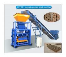 semi-automatic small concrete cement brick block machine