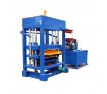 QTF4-28 diesel engine semi automatic concrete block machine