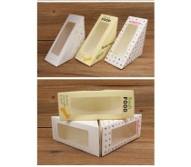 Custom Triangle Paper Sandwich Box for Packaging