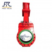 PU Rubber Lined Knife gate Valve for mining