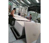 Dry wall partition paper faced plaster board
