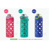 glass water bottle silicone sleeve for sale