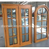Larch Wood Window with Grill Design