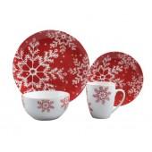 UK Hot Selling Christmas Tableware Set 16PCS Porcelain