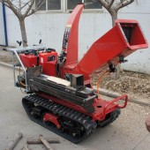 Self-propelled crawler branch trimmer&lbranch crusher
