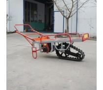 Motor barrow with single pedrail cart