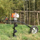 Single-wheel folding drill tree planting machine