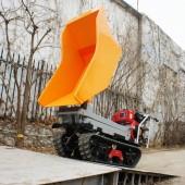 Crawler type dumper with lift , Hydraulic Scissor lifter