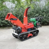 Self-propelled crawler branch crusher&lbranch crusher