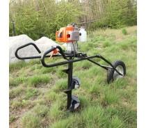 Hand Push Folding Ground Drill, Pit Digger, Planter