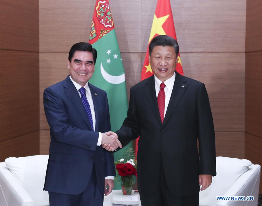 KAZAKHSTAN-CHINA-XI JINPING-TURKMENISTAN-MEETING