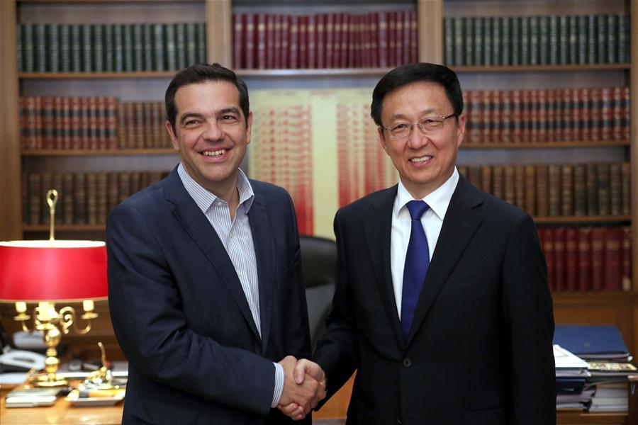 GREECE-ATHENS-PM-CHINA-HAN ZHENG-MEETING